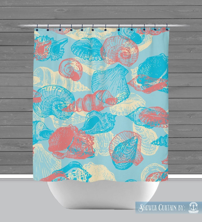 Command Strip Curtain Rod Coral Color Shower Curtain