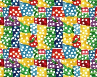 """END OF BOLT - The Very Hungry Caterpillar Colorful Patchwork Dots From Andover Fabrics by Eric Carle - 10"""" X 44"""""""