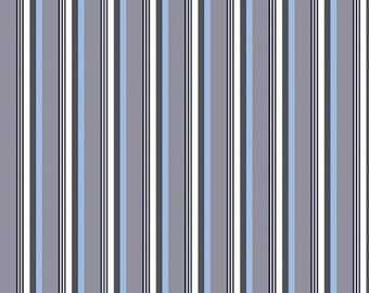 Fat Quarter ONLY - Sporty Grey Stripes from Riley Blake