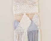 Woven Tapestry / Grey Mountains / Woven Wall Hanging