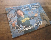 Vintage Girl Scouts of America Calendar 1950