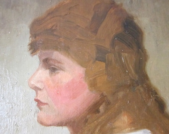 Antique Oil on Canvas, Oil Painting Portrait by William Jordan British Artist