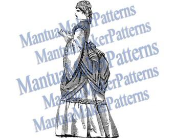 Victorian Dress Engraving, Instant Digital Download, 1871 #2