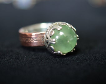 Prehnite Gem Stone ring