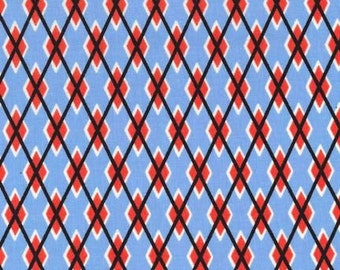 Argyle Fabric by the yard Michael Miller Argyle Me in Sailor 1 yard