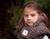 Crochet PATTERNS - Crochet Tutorial - Button Cowl Crochet Pattern - Crochet Cowl Pattern - Toddler Child Adult Sizes - PDF 146