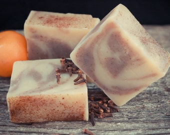 Orange Clove Swirl Soap