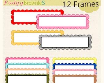 ON SALE frame clip art , Long Frames clipart, label clip art , digital scrapbooking frames.A-51 , Instant Download