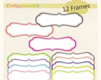 ON SALE Digital frame, Long Frames clipart, digital scrapbooking frames.A-37 , Instant Download