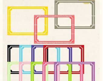 ON SALE Digital frame, Square Frames clipart, digital scrapbooking frames.A-39 , Instant Download