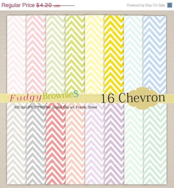 ON SALE SALE,Chevron Digital Paper backgrounds, scrapbook paper , card, 16 digital sheets, No.01, instant download
