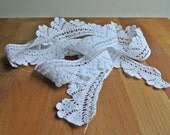 "White Cotton Hand Crochet Edging 83"" Long."