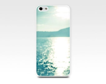 beach iphone case 6 ocean iphone case 5s beach scene iphone case 4s nautical iphone case 4 abstract iphone case bokeh sunset teal blue aqua