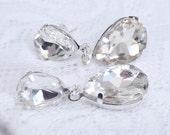 Mermaid Tears  Bridal Earrings, Wedding Earrings, Rhinestone Earrings, wedding jewellery, crystal drop earrings, dangle Bridal earrings,