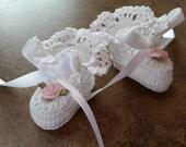 Crochet Micro Preemie Baby Reborn Doll Booties