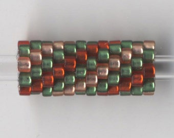 Woven Glass Bead Tube ... ... ... ... ... ... 6mm/o-2mm/i ... ... ... ... ... 12x08 * 491