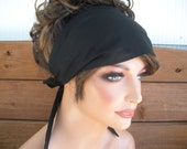 Womens Headband Fabric Headband  Accessories Women Head Scarf Yoga Headband Summer Headband Bandana in Black - Choose color