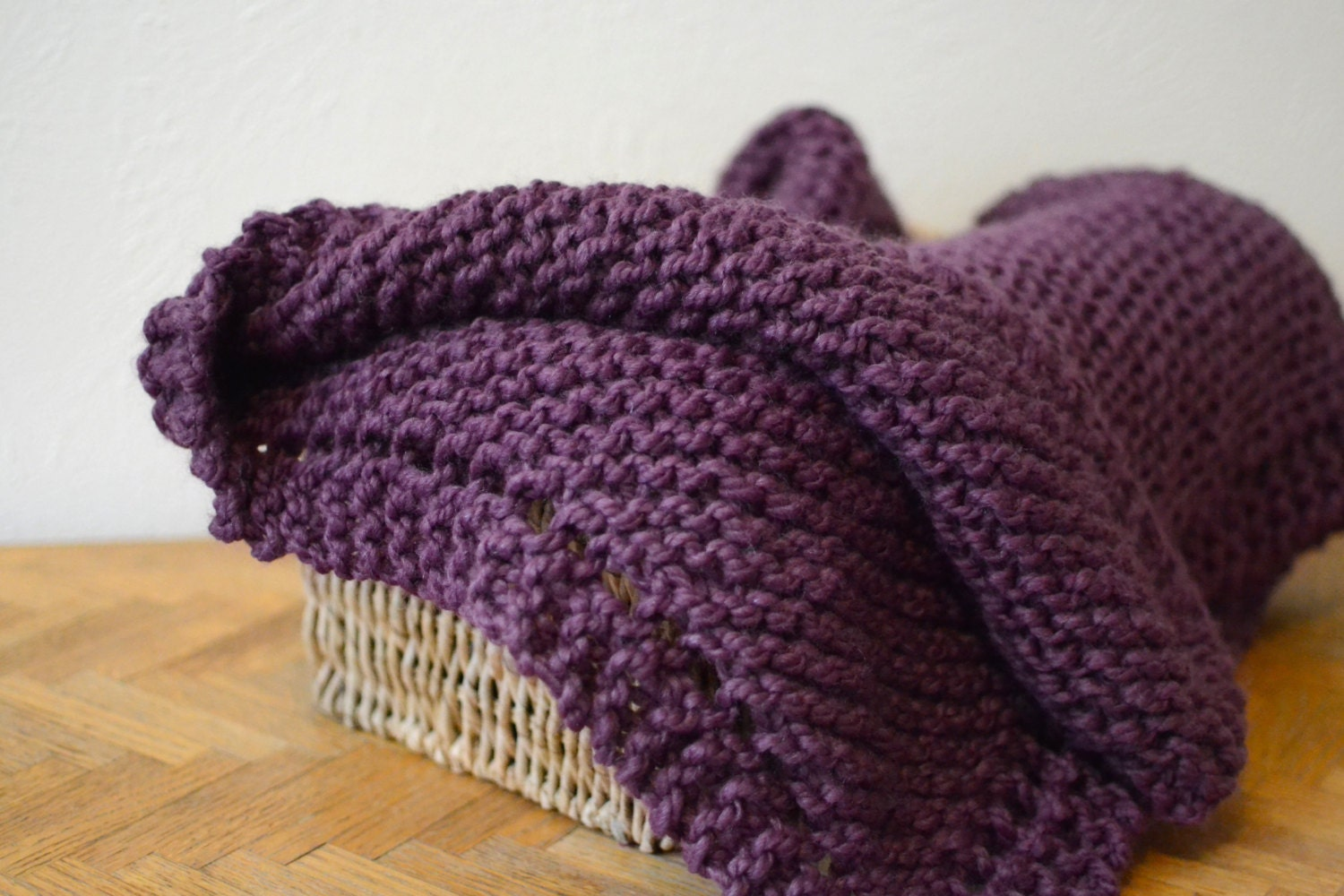 Baby Blanket // Chunky Knit Blanket // Hand Knitted Baby