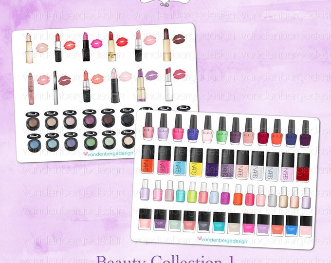 Planner Calendar Stickers- Beauty Collection 1- Perfect for the Erin Condren Life Planner