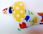 Stuffed Dachshund Colorful Retro Nursery Decor Animal Puppy Kids Toy