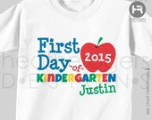 First Day of Kindergarten Shirt - Personalized Back to School Shirt - Monogram Kindergarten Shirt
