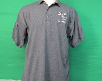 NSA World Series Champs Short Sleeve Polo Shirt - Adult XL - #732A