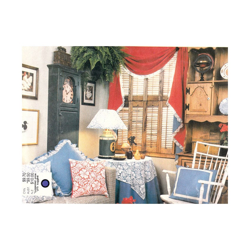 Vogue 1419 home decor pattern american traditional living for Classic american home decor