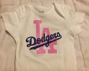 LA Dodgers glitter onesie.