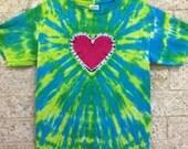 Tie Dye Heart, Child Large