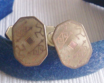 Old Deco Cuff Links