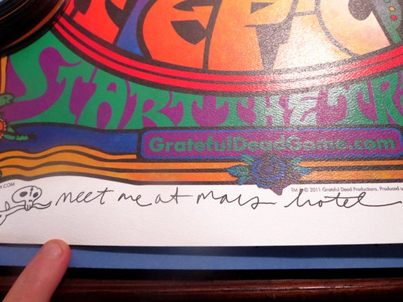 3/3 Doodled A/P Grateful Dead Game