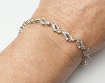 Signed Napier Vintage Bracelet Rhinestone Delicate Bracelet Costume Jewelry