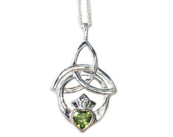 Trinity Knot Claddagh Pendant