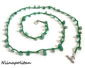 Heart Chakra - Green Aventurine Wrap Bracelet/Necklace/Anklet - Ready to Ship