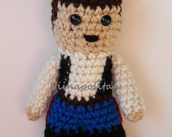 Star Wars Inspired Amigurumi Doll - Han Solo - MADE TO ORDER