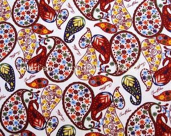 2119 - 1 yard Cotton fabric  - Paisley Flower