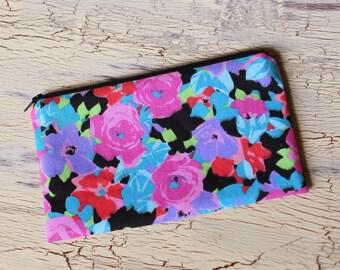Zipper Pouch - Floral Canvas