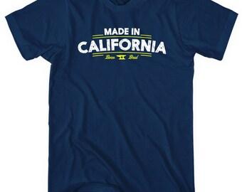 Made in California V2 T-shirt - Men and Unisex - XS S M L XL 2x 3x 4x - California Shirt - 4 Colors
