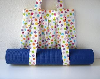 Yoga Mat Bag Floral Handmade Babimini
