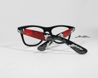 Red Koi custom sunglasses