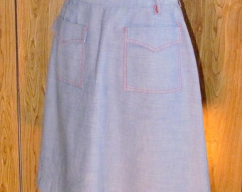 On Sale-Awesome DENIM Jean SKIRT With POCKETS