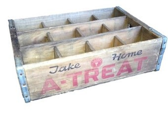 Vintage A-treat Wooden Soda Crate
