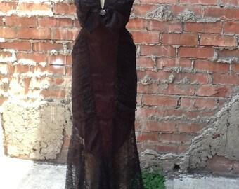 Vintage Lace Formal Dress