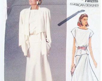 Vogue pattern 1387, out of print sewing pattern, jacket, skirt & top 1985, American Designer line