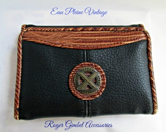 Roger Gimbel Tri Fold Ladies Billfold Wallet Faux Leather EUC