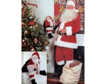 Santa Claus Costume Pattern McCall's 8090 Extra Large