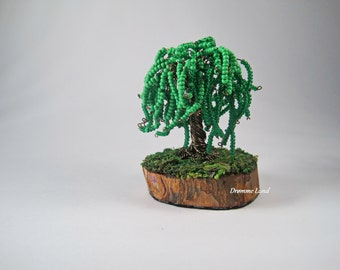 Weeping Willow ~ OOAK Miniature Weeping Willow Tree Sculpture