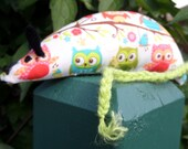 Hand Made Catnip Mouse - Colourful Summer Owl design - Cat Toy with Extra Strong Catnip
