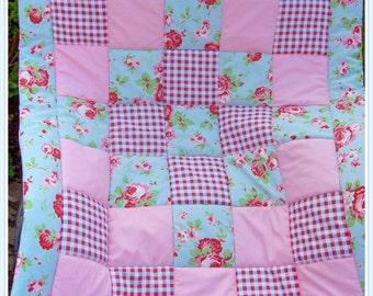 Baby Quilt Cath Kidston Rosali Fabrics Playmat Tummytime Rug Blanket