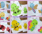 Baby Bugs Full Set Machine Applique Embroidery Design - 4x4, 5x7 & 6x8